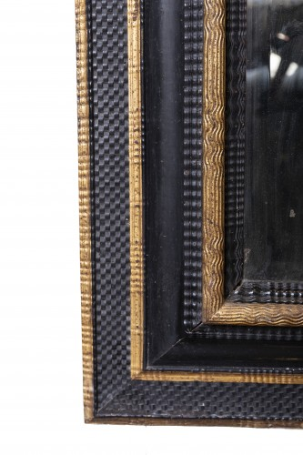 An French ebonised Louis XIV Mirror -