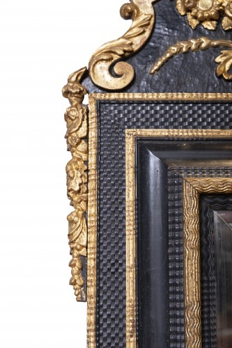 17th century - An French ebonised Louis XIV Mirror
