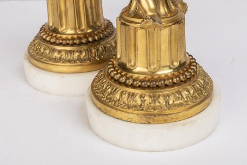 18th century - A Pair of Louis XVI ormolu mounted Candlesticks