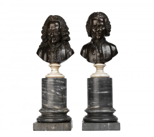 Pair of bronze busts stamped Pierre-Philippe THOMIRE 1790