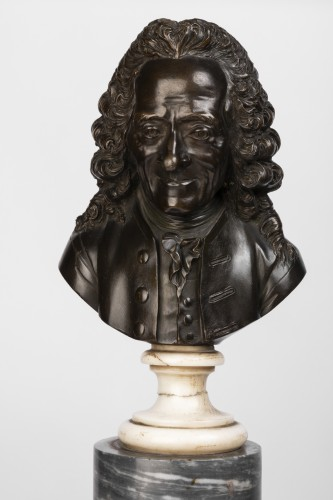 Sculpture  - Pair of bronze busts stamped Pierre-Philippe THOMIRE 1790