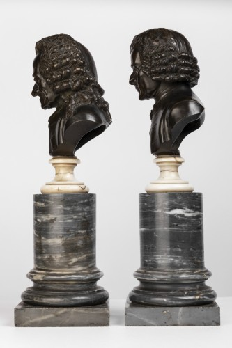 Pair of bronze busts stamped Pierre-Philippe THOMIRE 1790 - Louis XVI