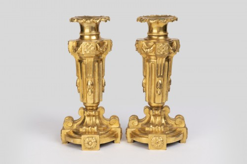 18th century - A pair of Louis XVI ormolu candelabra