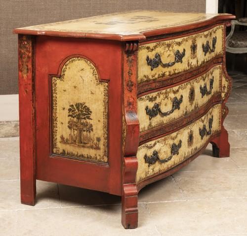 Furniture  - A Rarely  North Italian Lacca-Povera Commode early XVIIIéme Century