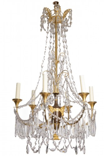 Etruscan cut crystal Chandelier late 18th century