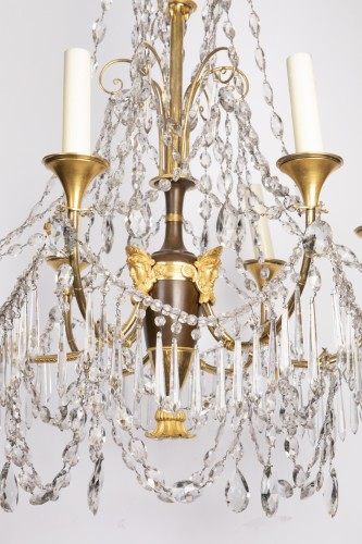 Lighting  - Etruscan cut crystal Chandelier late 18th century