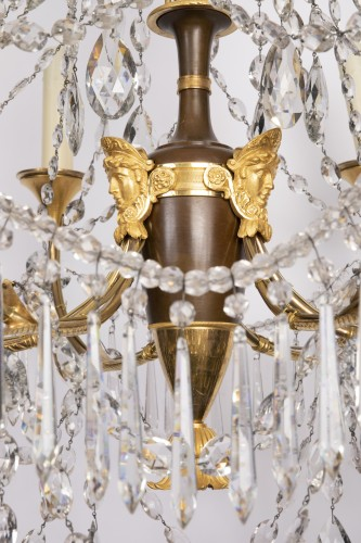 Etruscan cut crystal Chandelier late 18th century   -
