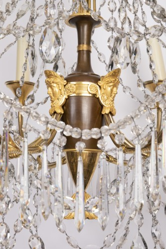 18th century - Etruscan cut crystal Chandelier late 18th century