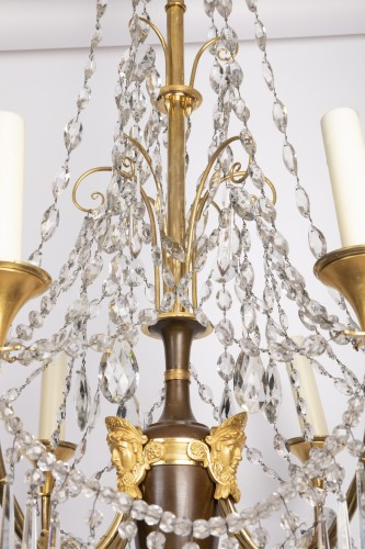 Etruscan cut crystal Chandelier late 18th century   - Directoire