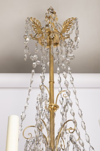 Directoire - Etruscan cut crystal Chandelier late 18th century