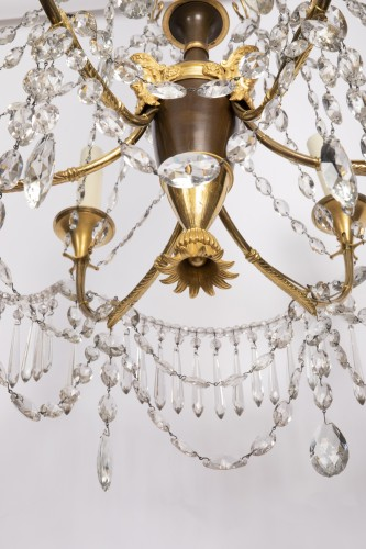 Antiquités - Etruscan cut crystal Chandelier late 18th century