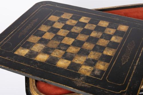 """Antiquités - Gilted wood table """"à jeux """" Louis XV"""