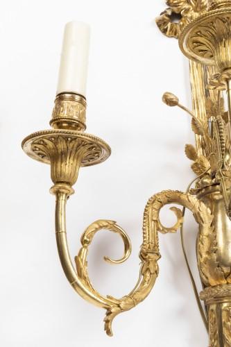 18th century - A pair of Louis XVI gilt -bronze wall lights