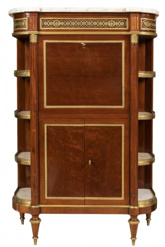 A Louis XVI ormolu-mounted Mahogany Secretaire attributed à Etienne Avril