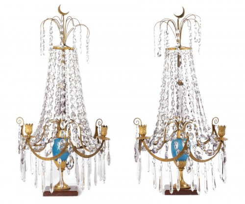 A pair of Swedish ormolu-mounted candelabra late 18th century
