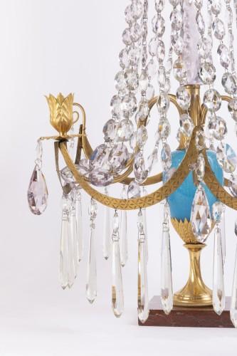 A pair of Swedish ormolu-mounted candelabra late 18th century - Lighting Style Louis XVI