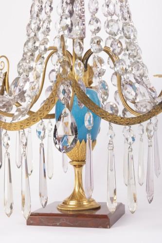 Lighting  - A pair of Swedish ormolu-mounted candelabra late 18th century