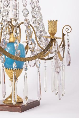 A pair of Swedish ormolu-mounted candelabra late 18th century -