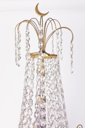 Louis XVI - A pair of Swedish ormolu-mounted candelabra late 18th century