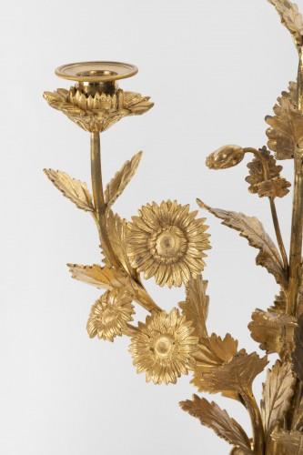 Lighting  - A pair of Louis XVI ormolu-mounted Atheniennes Candelabra
