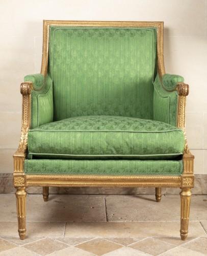 Seating  - A Pair of Louis XVI giltwood Bergères stamped  G IACOB