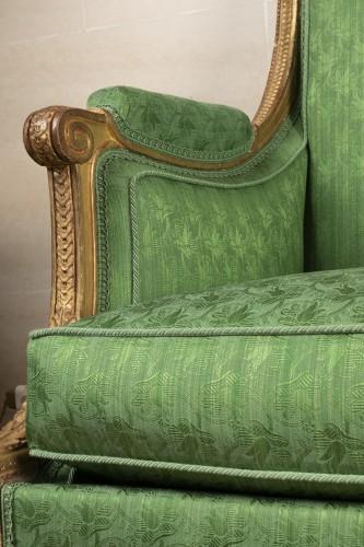 Antiquités - A Pair of Louis XVI giltwood Bergères stamped  G IACOB
