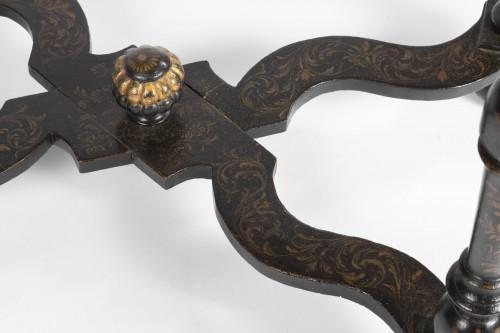 Antiquités -  A Rare Louis XIV Table Epoque Louis XIV black lacquer