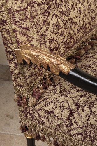 Antiquités - A rarely Pair of Louis XIV giltwood and blackenedwood