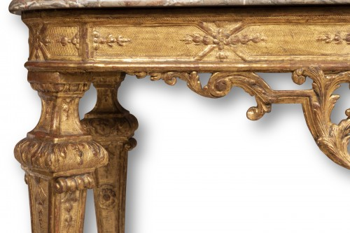 Furniture  - A Louis XIV Giltwood Console-Table late XVII° century