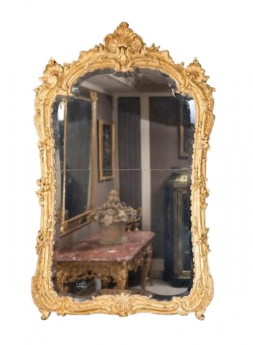 A Louis XV  Gilt wood Mirror