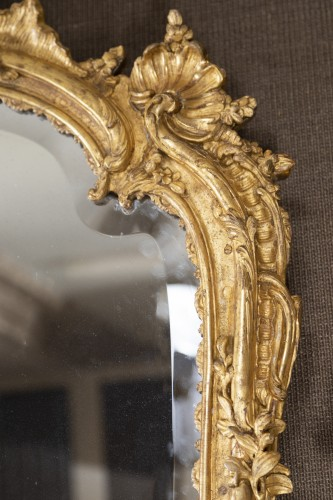 A Louis XV  Gilt wood Mirror  -