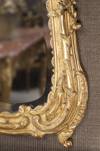A Louis XV  Gilt wood Mirror  - Louis XV