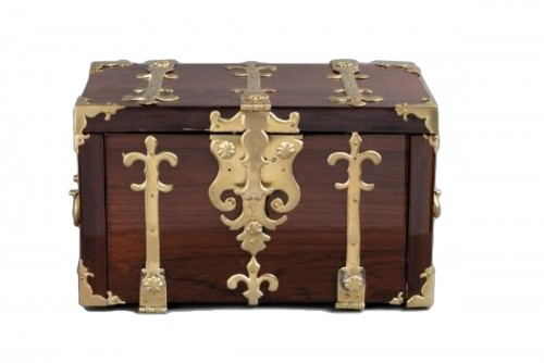 A Louis XIV gilt bronze mounted Rosewood casket