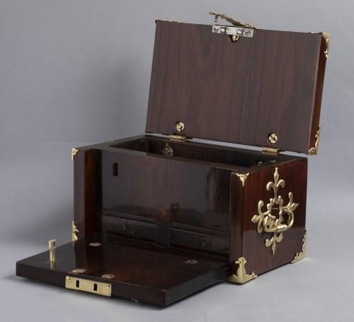 A Louis XIV gilt bronze mounted Rosewood casket  - Objects of Vertu Style Louis XIV