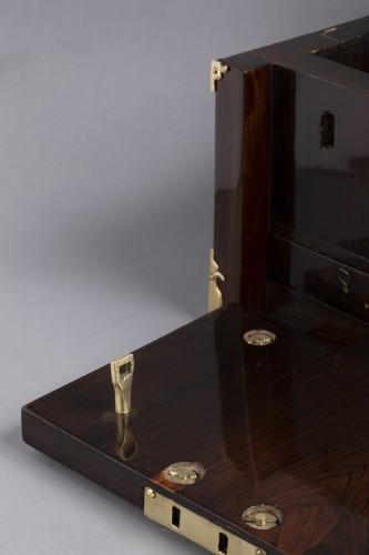 A Louis XIV gilt bronze mounted Rosewood casket  -