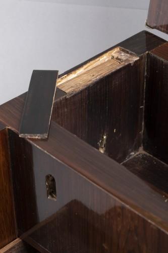 A Louis XIV gilt bronze mounted Rosewood casket  - Louis XIV