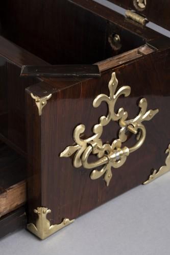 Louis XIV - A Louis XIV gilt bronze mounted Rosewood casket