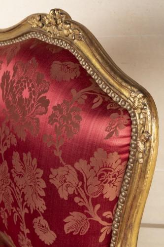 Antiquités - A fine Pair of Louis XV giltwood Fauteuils à La Reine