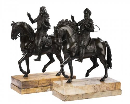 Paire de Bronzes Equestres Louis XIII et Henri IV Epoque Restauration