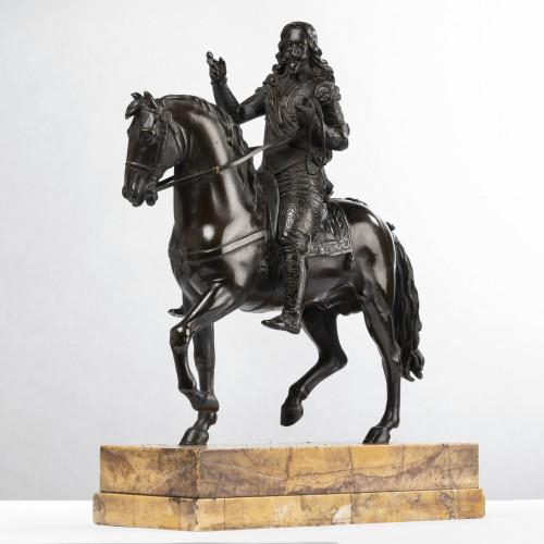 Sculpture  - Paire de Bronzes Equestres Louis XIII et Henri IV Epoque Restauration