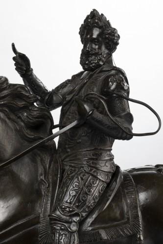 Paire de Bronzes Equestres Louis XIII et Henri IV Epoque Restauration -