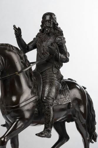 Restauration - Charles X - Paire de Bronzes Equestres Louis XIII et Henri IV Epoque Restauration