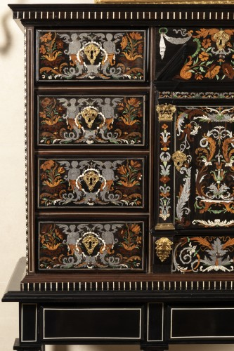 Furniture  - Louis XIV period cabinet attributed to Pierre Gole