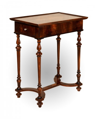 French Louis XIV table in kingwood - Furniture Style Louis XIV