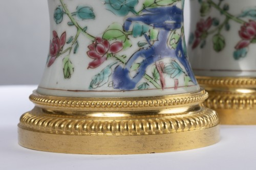 Porcelain & Faience  - Pair of 18th century Chinese porcelain vases