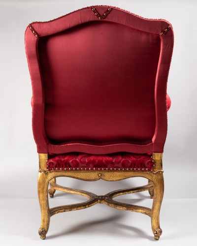French Regence - Set of four large armchairs Régence period