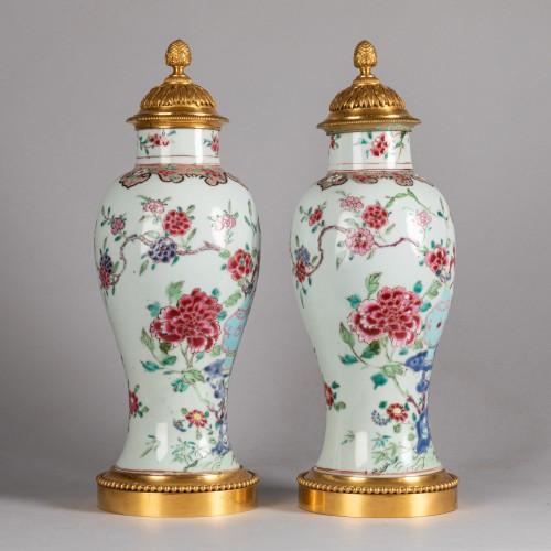 Pair of porcelain vases China, Qianlong period -