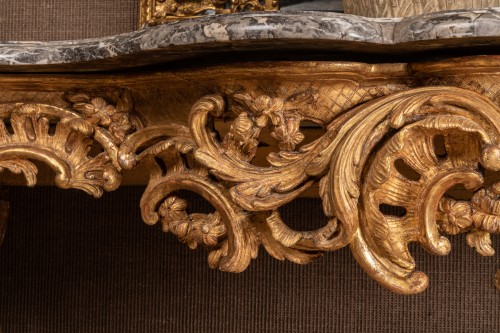 A Large Louis XV giltwood Console  -