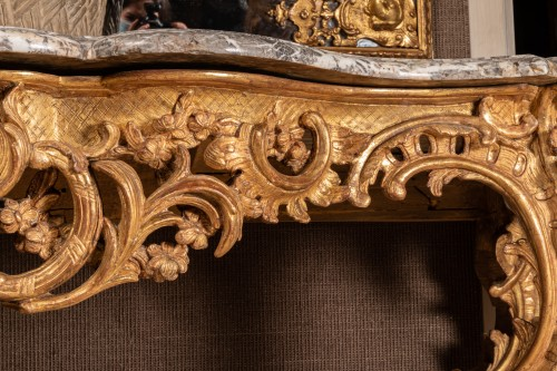 18th century - A Large Louis XV giltwood Console