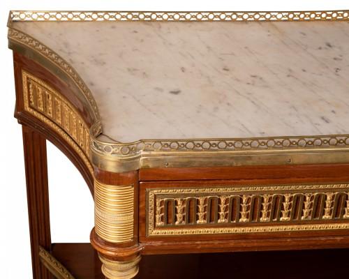 Furniture  - Desserte  stamped Claude Charles Saunier 1735-1807